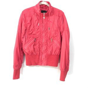 AMISU Bright Pink Lightweight Zip Up Jacket Sz S